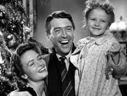 "Jimmy Stewart and Donna Reed play George and Mary Bailey in ""It's A Wonderful Life"""