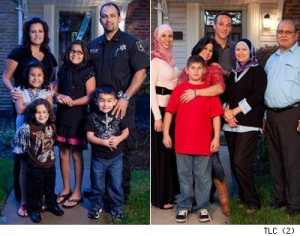 "The Jaafar family (left) and Amen family (right) of ""All-American Muslim"""