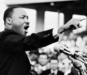 """Martin Luther King Jr. when he declared, """"I have a dream."""" (AP)"""