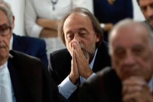 Bernardo de Bernardinis at the trial  AFP/GETTY IMAGES