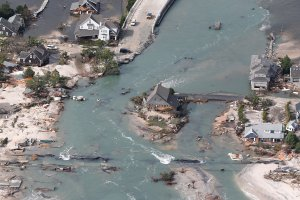A bridge in Mantoloking, NJ was destroyed by Sandy (Andrew Mills/The Star-Ledger)